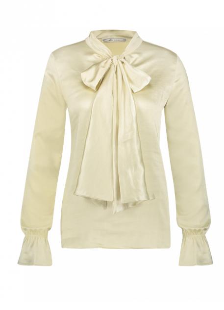 Witte satijnen dames blouse - Aaiko - 141107 oyster