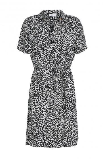 Geprinte dames jurk - Fabienne Chapot - Boyfriend dress - off white/black