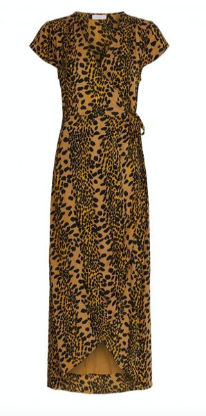 Geprinte dames jurk - Fabienne Chapot - Archaba dress - toffe brown/blak