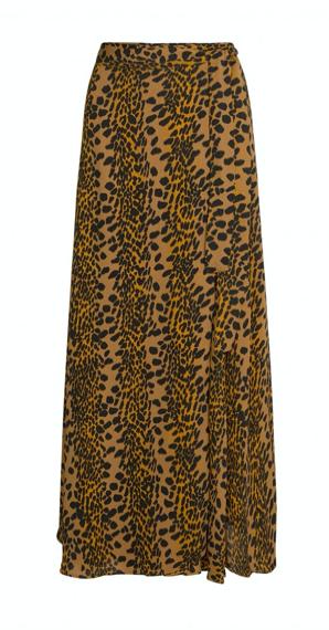 Geprinte dames rok - Fabienne Chapot - Bobo skirt - toffee brown/blk