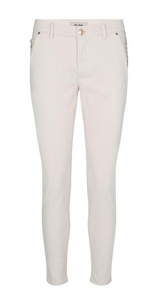 Ecru gekleurde dames broek - Mos Mosh - 132350 - 180