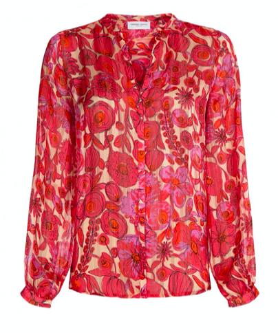 Geprinte dames blouse - Fabienne Chapot - Frida Lou Blouse - blossom pink