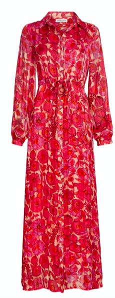 Geprinte jurk - Fabienne Chapot - Frieda long dress - blossom pink