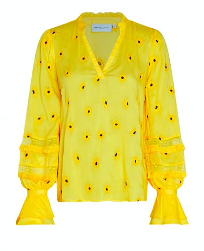 Gele dames blouse - Fabienne Chapot - Cleo top - sunflower yellow