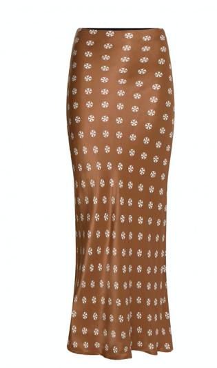 Bruin geprinte dames rok - Fabienne Chapot - Laurie Noa skirt - toffe brown