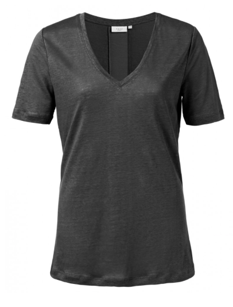 Zwart dames t-shirt - YAYA - 1919112-013 - 94305