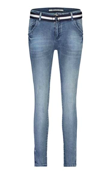 Blauwe dames jeans - Bianco - light blue denim