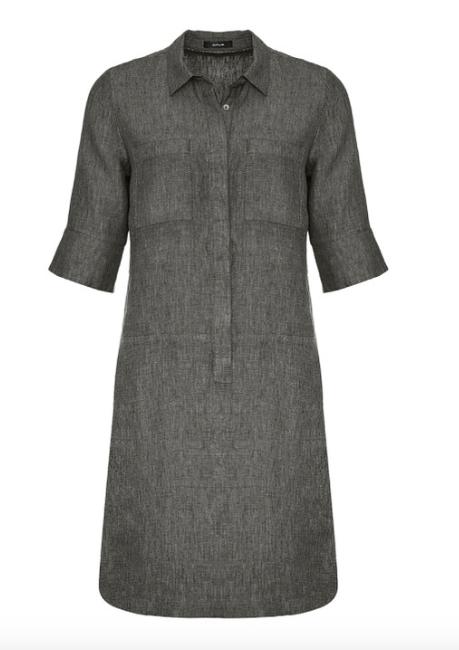 Grijze dames jurk - Opus - Willmar linen - 3050