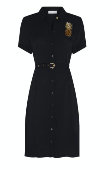 Zwarte dames jurk met ananas Fabienne Chapot - Mila Dress
