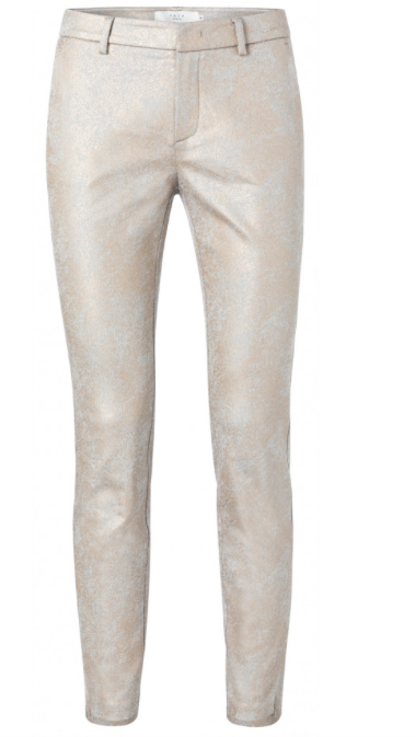 Witte dames broek met Gouden print YAYA - 121168-021