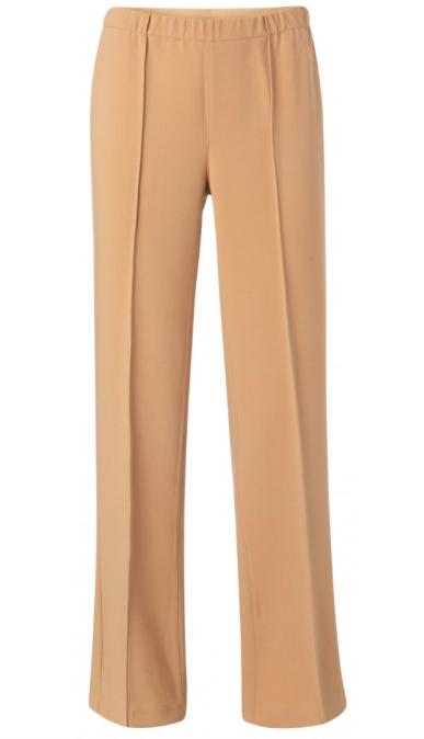 Zandkleurige dames pantalon YAYA - 1201197-021