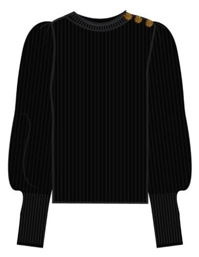 Zwarte dames trui - Fabienne Chapot - Lillian pullover -  9001