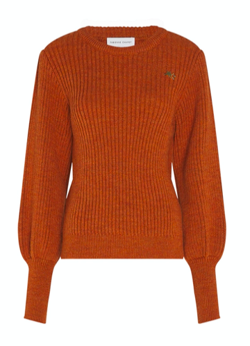 Cognac kleurige dames trui - Fabienne Chapot - Marianne pullover - 2002