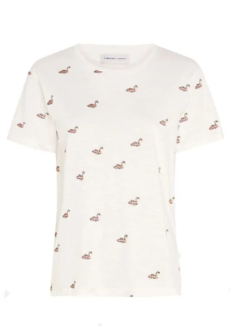 wit dames shirt met print - fabienne chapot - phil swan t-shirt - cream white
