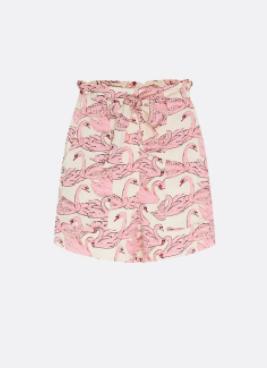 roze geprinte sames shorts - fabienne chapot - olivia short - white/trippu pi