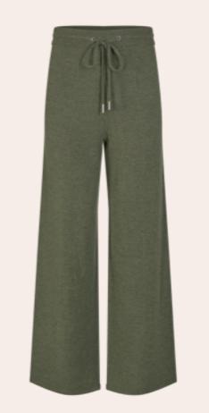 Donkergroene dames broek - Mos Mosh Cilla knit pant - 139720-507