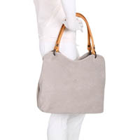 Fred de la Bretoniere Med Shopper Nat Kaleido Light Grey