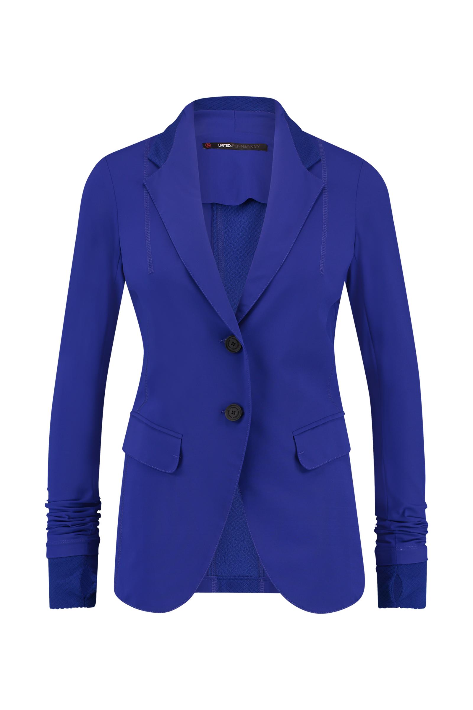 Paarsblauwe dames blazer Penn & Ink - W17N176ltd