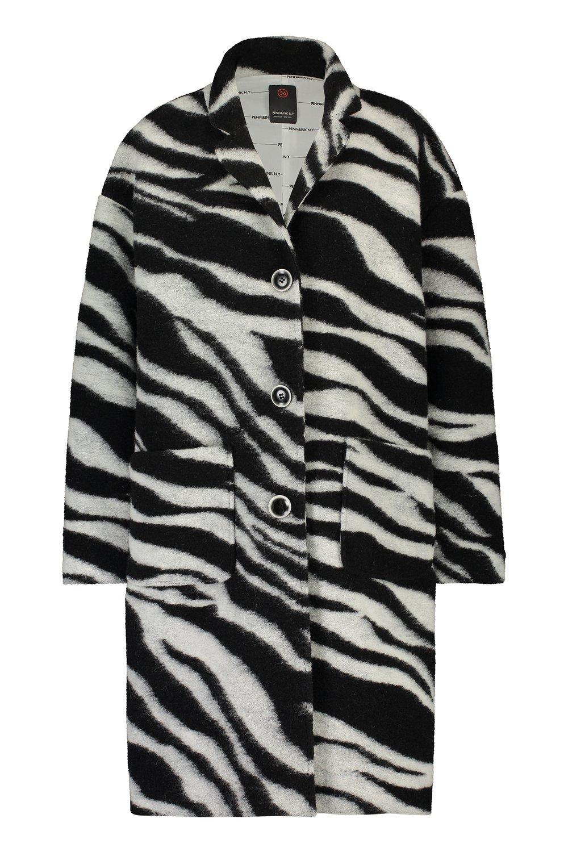 Zwart/wit zebra geprinte dames jas Penn & Ink - W19N576