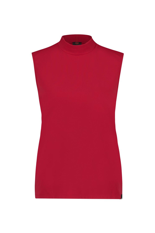 Rode mouwloze top met col Penn & Ink - W19N579