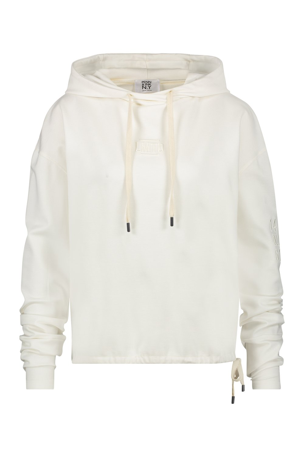 Witte sweater dames met capuchon Penn & Ink - W19T299LTD