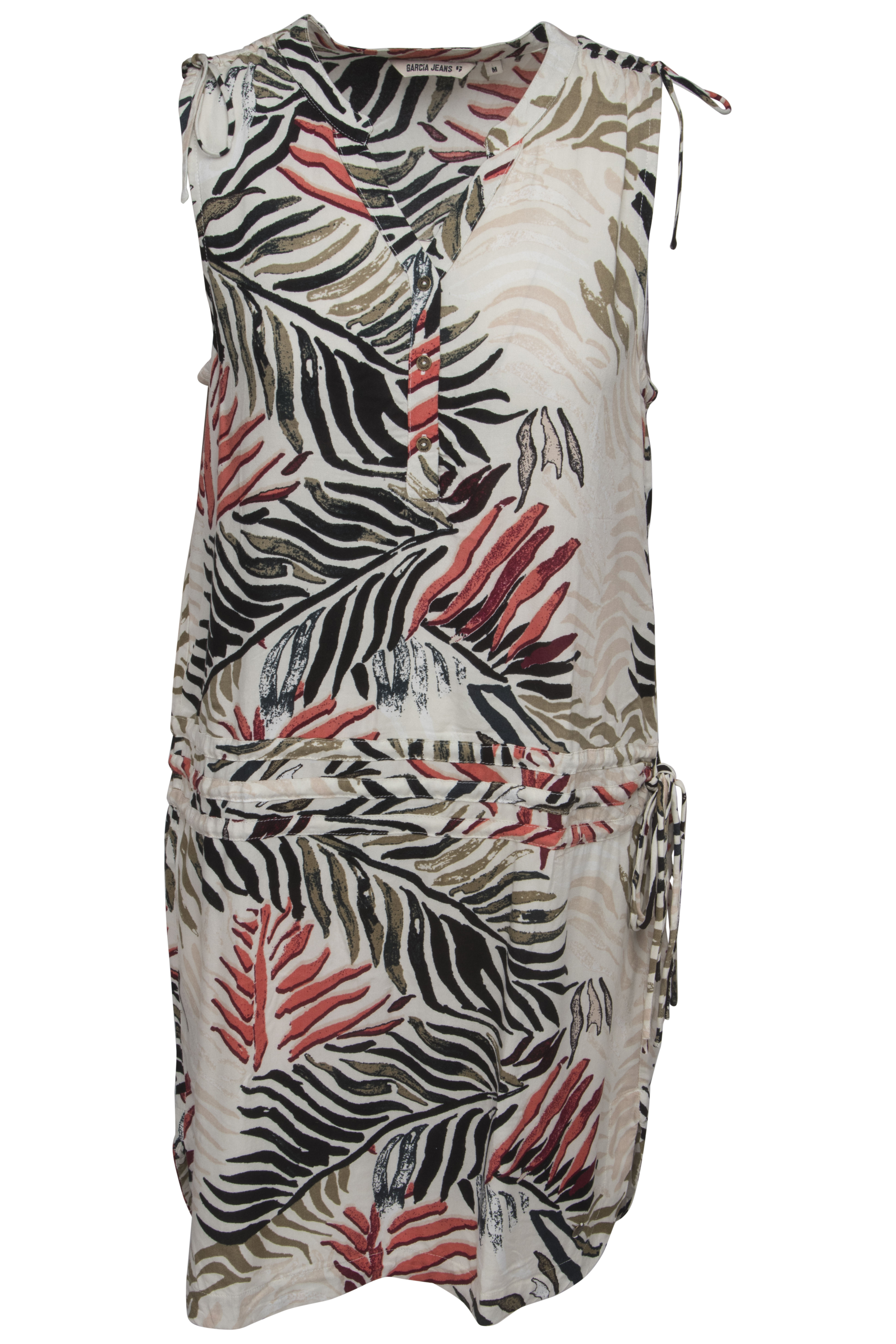 Beige geprinte dames jurk Garcia - P80283
