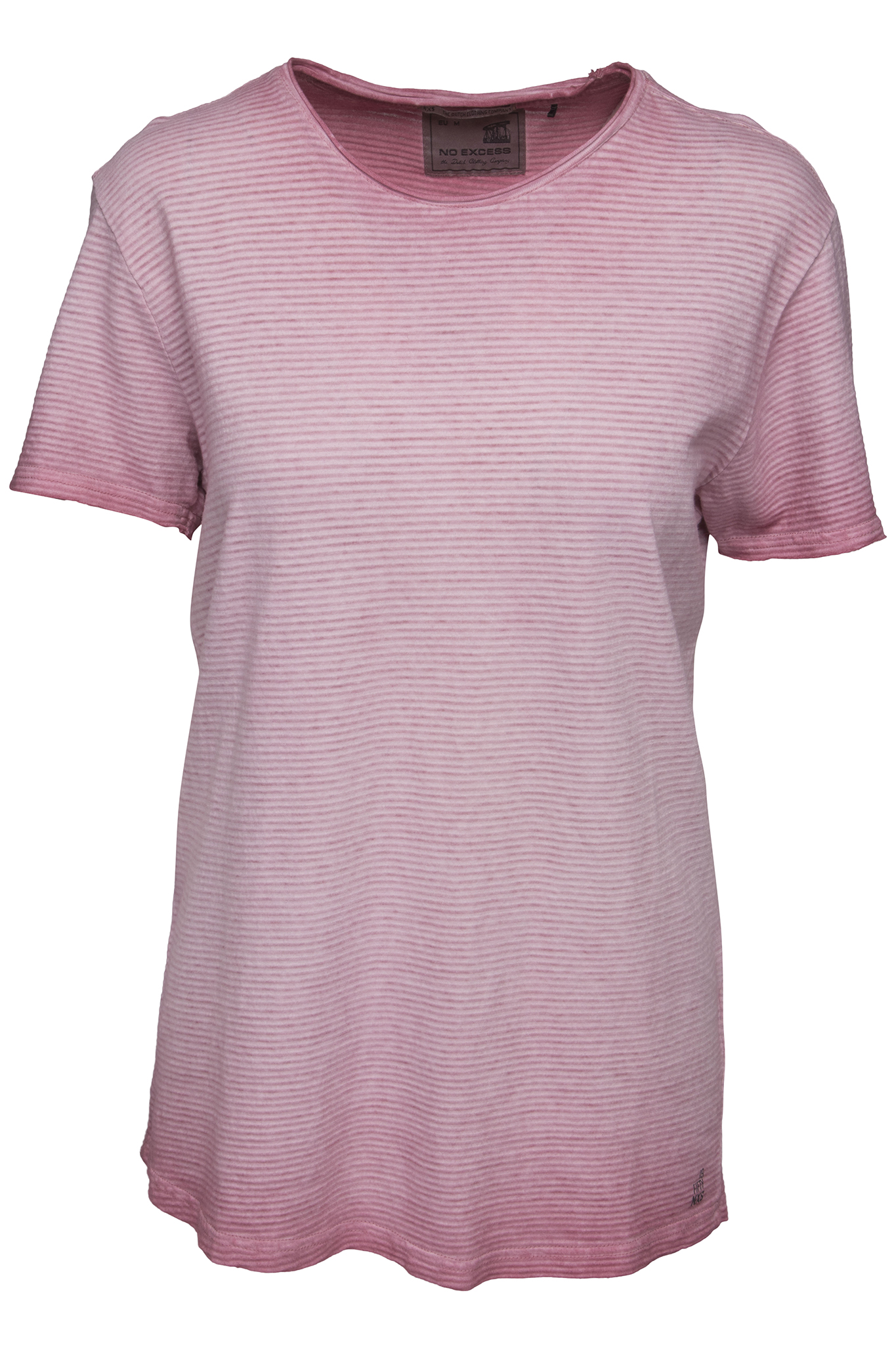 Roze gestreept heren shirt No Excess - 85320109