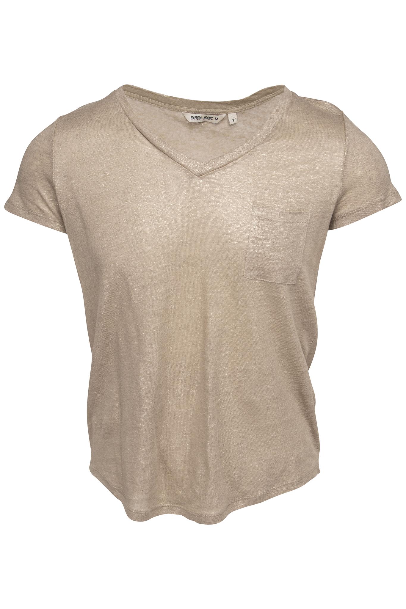 Goud beige dames shirt Garcia - P80213