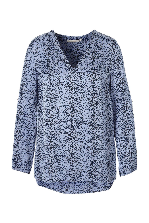 Blauw/zwarte dames blouse Aaiko - Meride