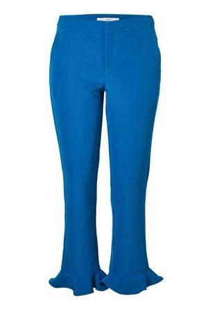 Blauw gedetailleerde dames pantalon Aaiko - Camilla
