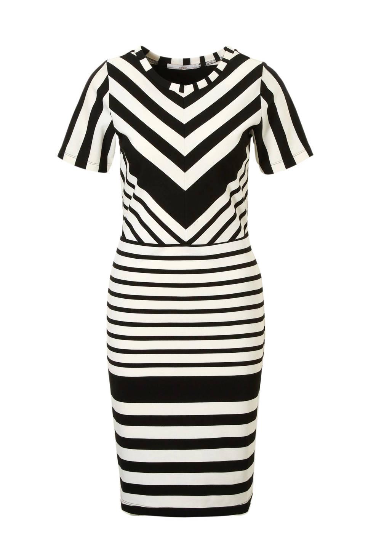 Zwart/wit gestreepte dames jurk Aaiko - Sari 900