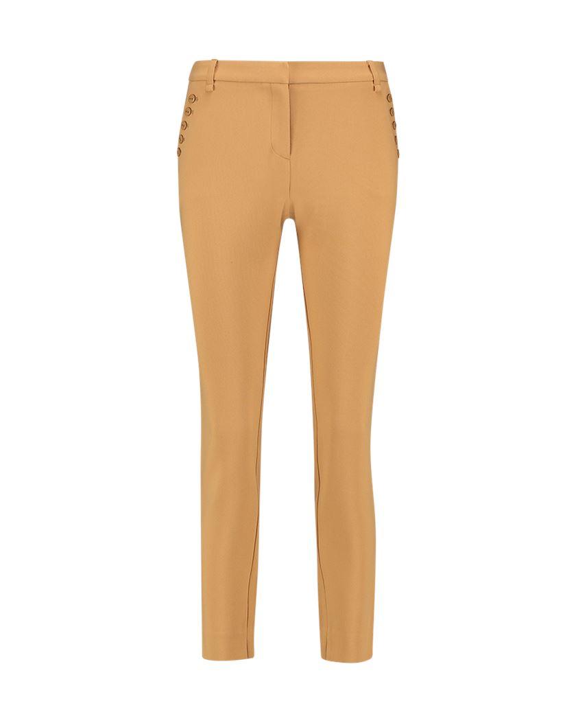 Bruine dames broek met knoop detail Aaiko - 171134 - Parien Buttons