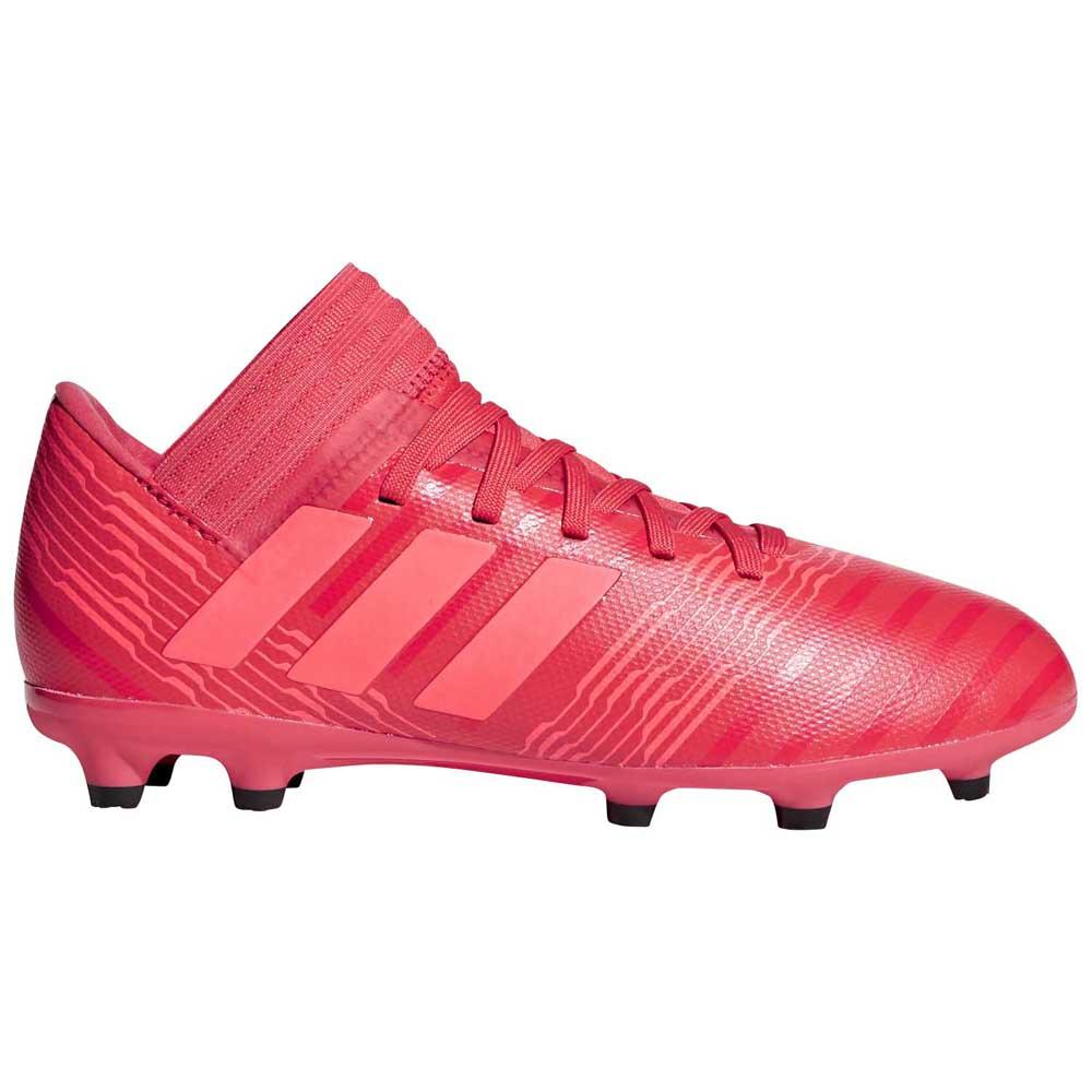 Rode kids voetbalschoen Adidas Nemeziz 17.3 FG J - CP9166
