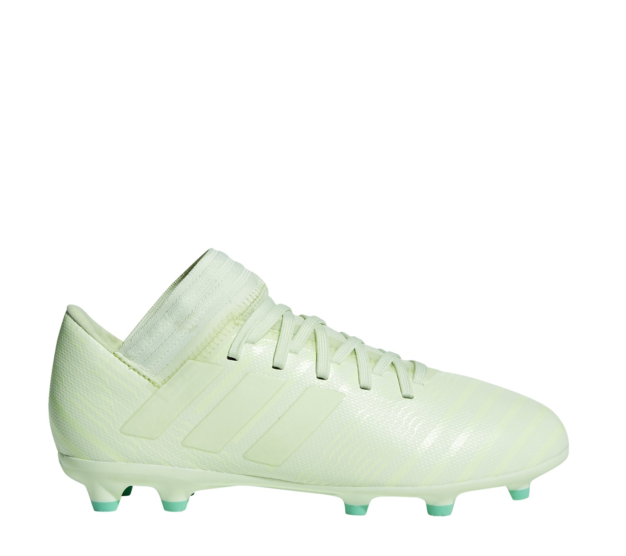 the best attitude 878eb a7324 wit groene Kids Voetbalschoen Adidas Nemiziz 17.3 FG J - CP9167