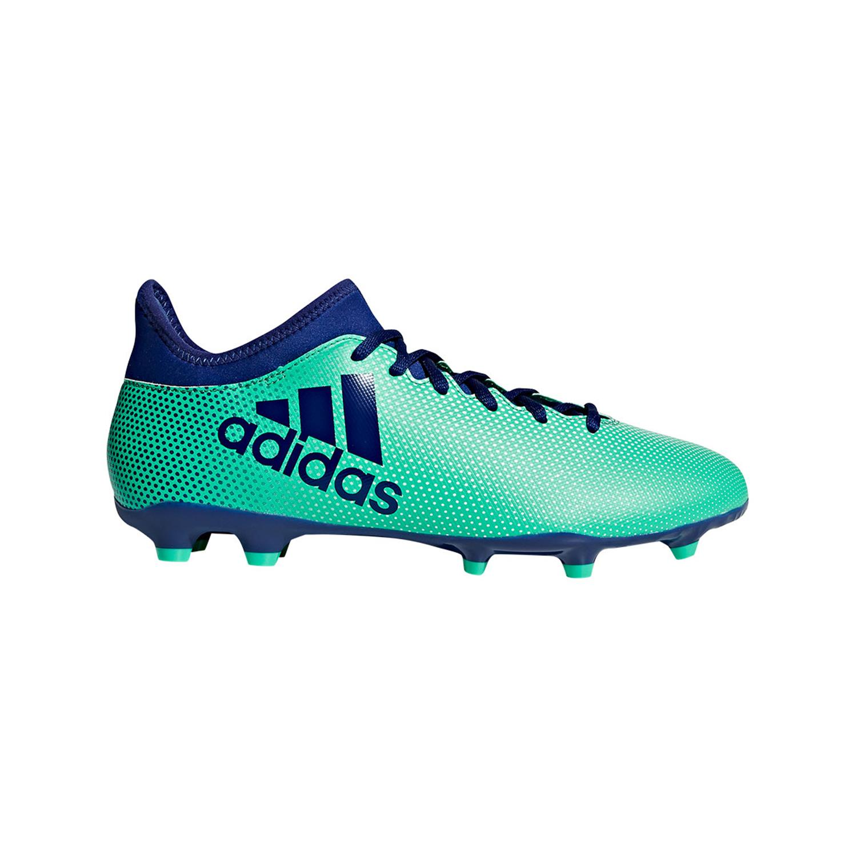 Groen Blauwe Kids voetbalschoen Adidas X 17.3 FG - CP8993