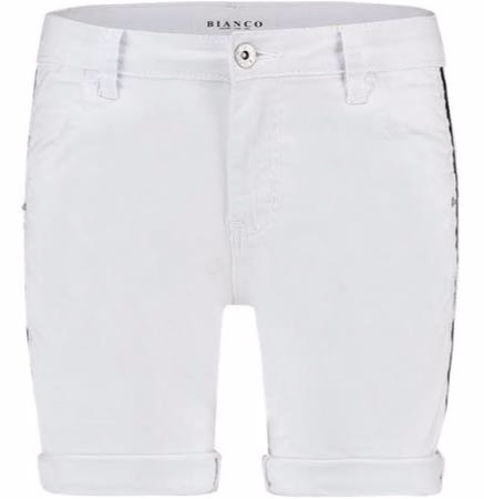 Witte dames short Bianco - 1118322-solid white