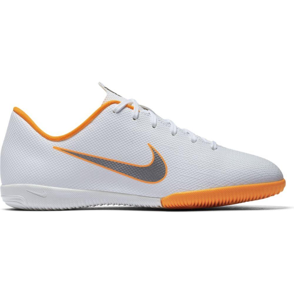 Wit Oranje Zaalvoetbalschoen Nike JR VAPORX 12 ACADEMY GS IC - AJ3101-107