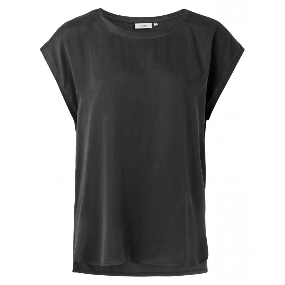 Zwart basic T-shirt YAYA - 1901116-924 - 00001