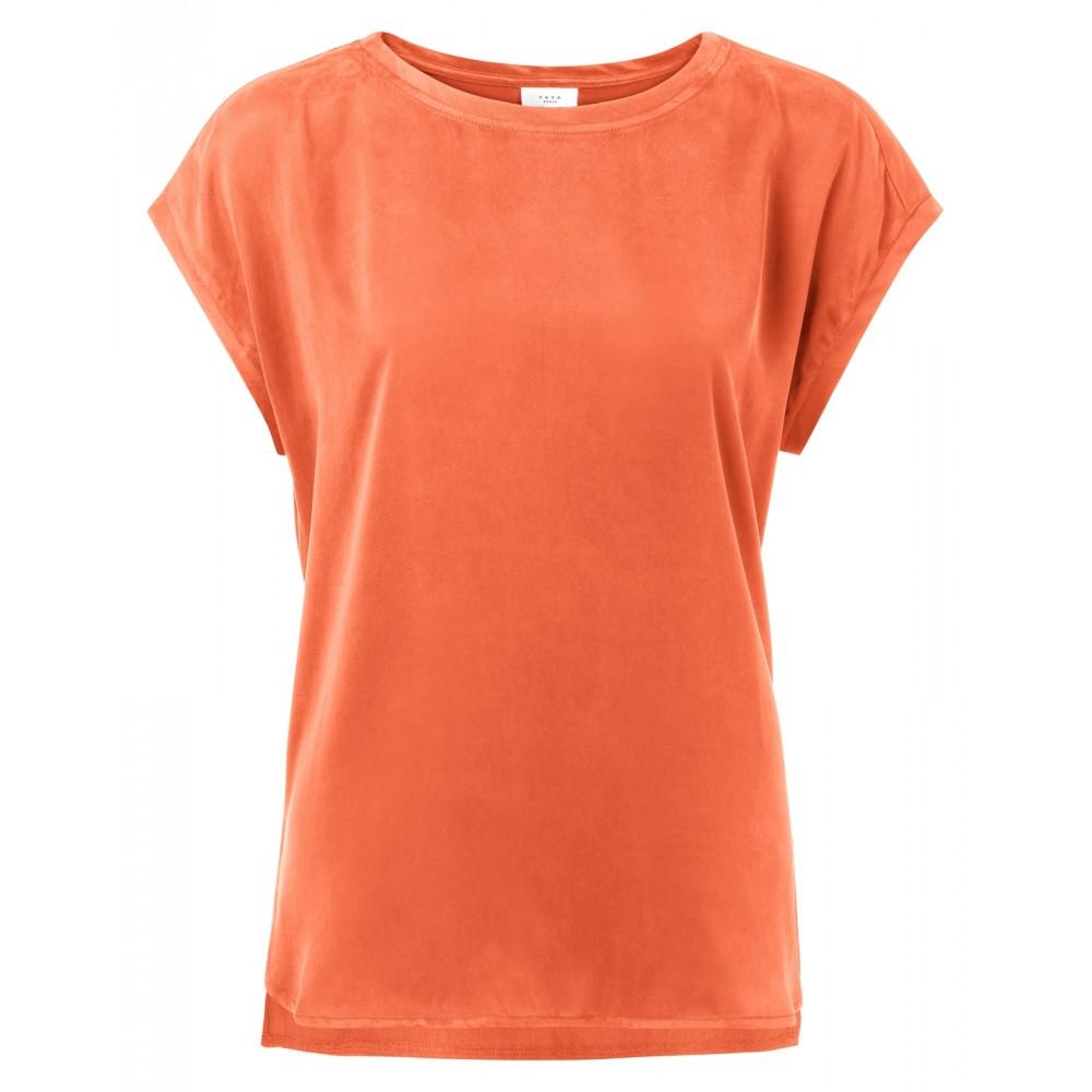 Oranje basic T-shirt YAYA - 1901116-924 - 99196