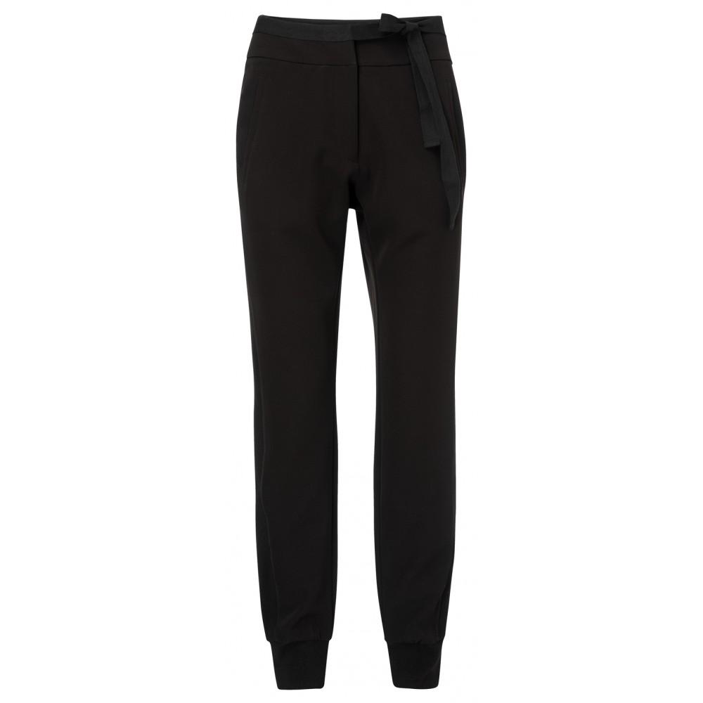Zwarte dames broek met hoge taille YAYA - 121137-924 - 00001