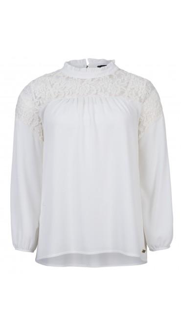 Witte dames blouse kanten bovenkant Dayz - Cameron