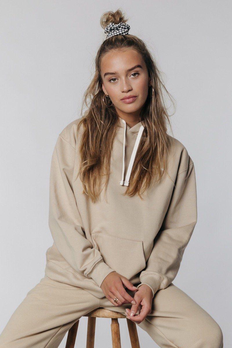 Beige dames hoodie - Colourful Rebel - Uni oversized hoodie - sand