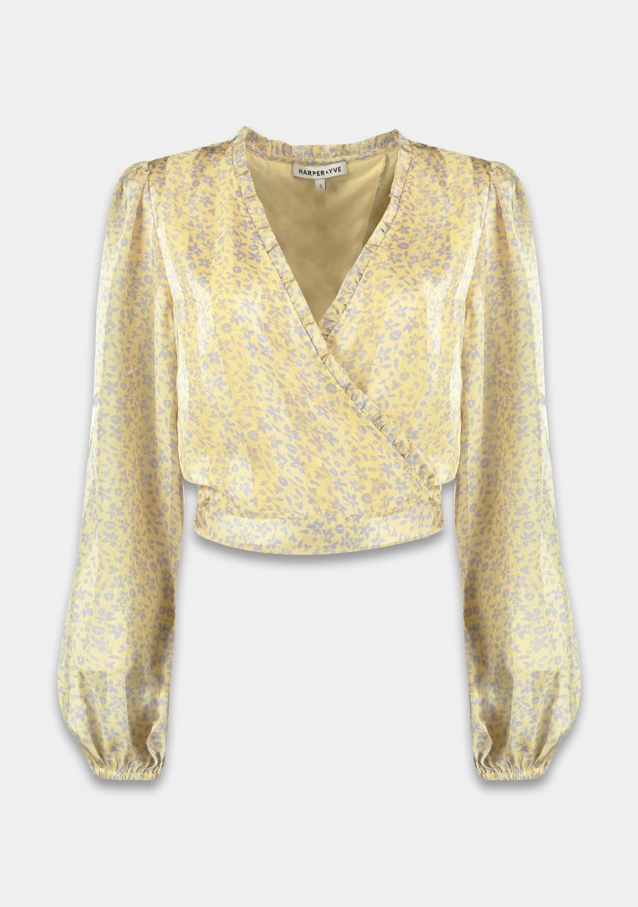 Gele dames blouse Harper & Yve - ss21x613 - light yellow
