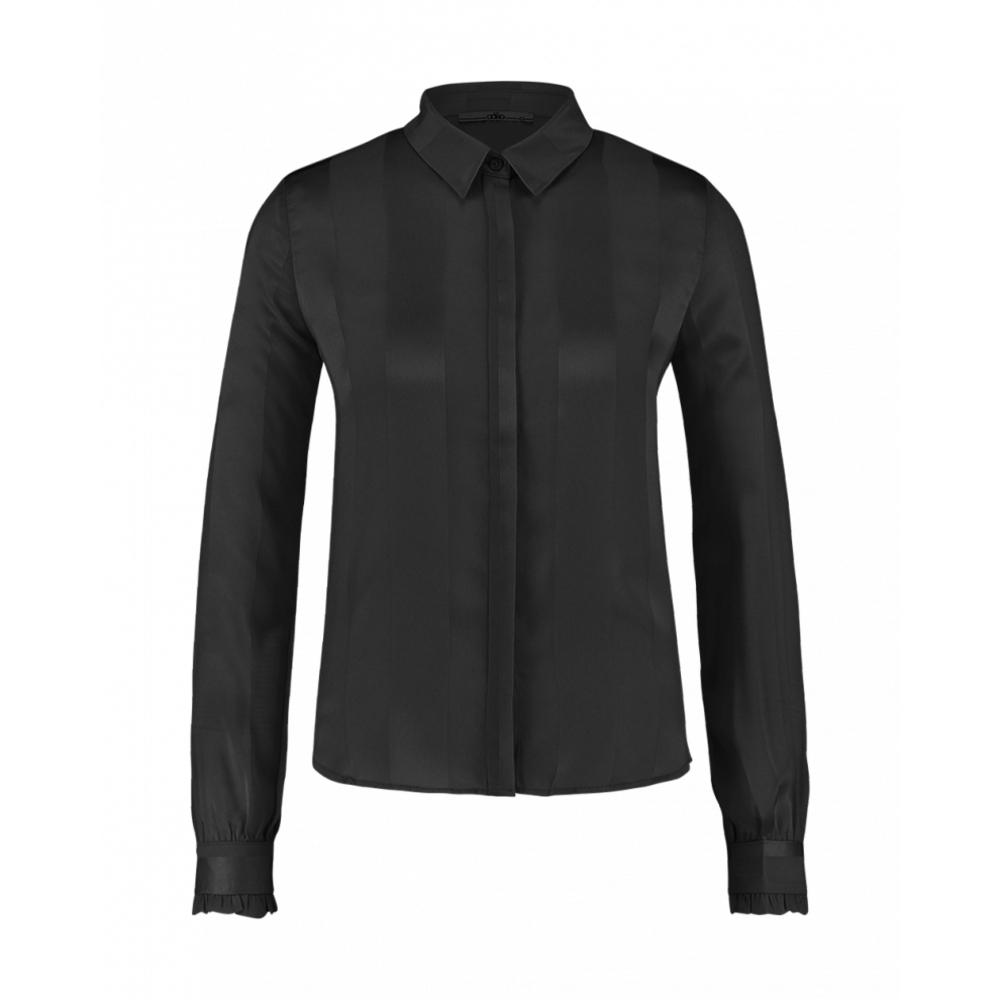 Zwarte dames blouse met streep Aaiko - Tess - 900