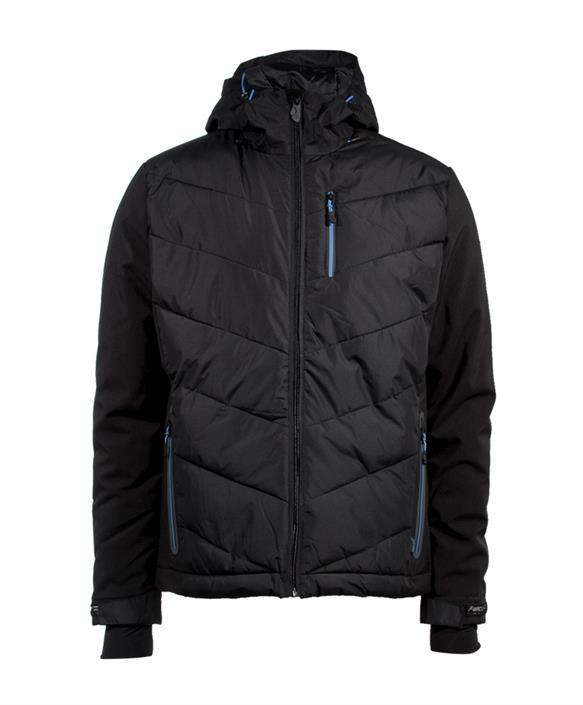 Zwart Blauwe heren ski jack Falcon Salvino