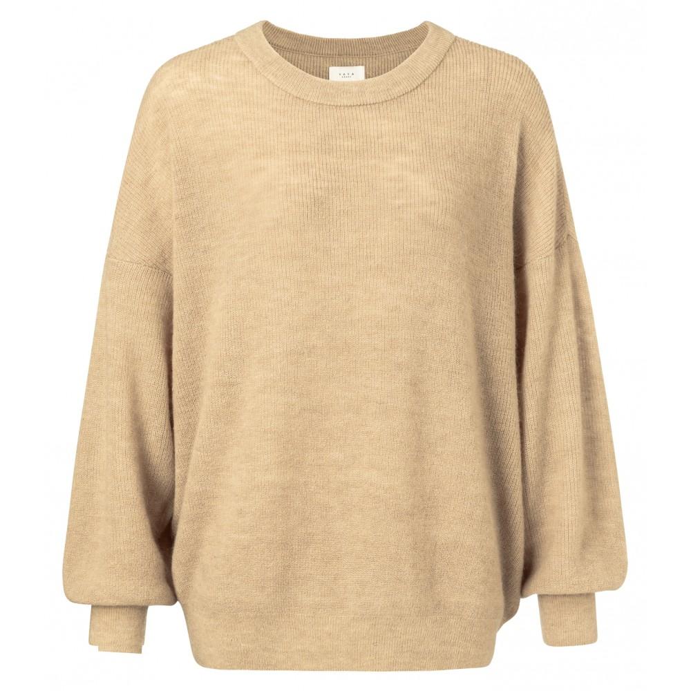 Beige sweater met ronde hals YAYA - 1000116-912