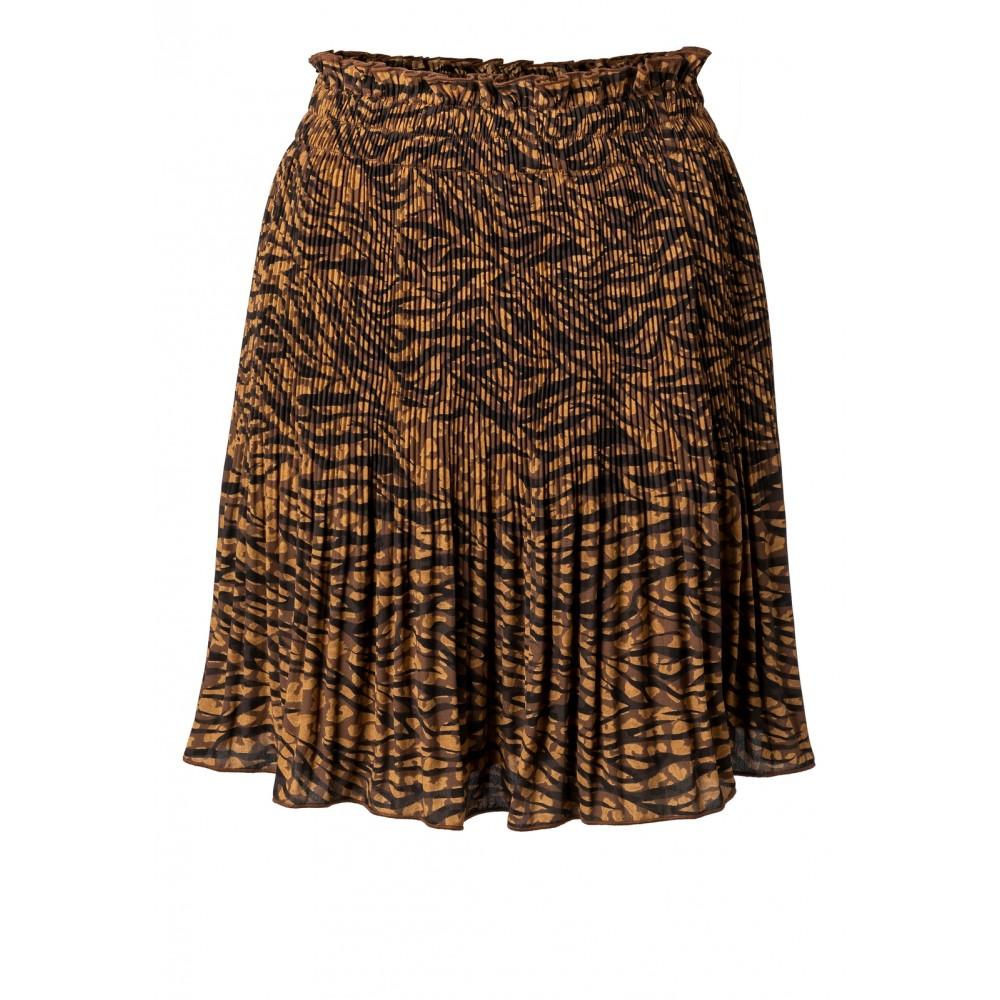 Bruin/zwart geprinte dames rok YAYA - 140171-920