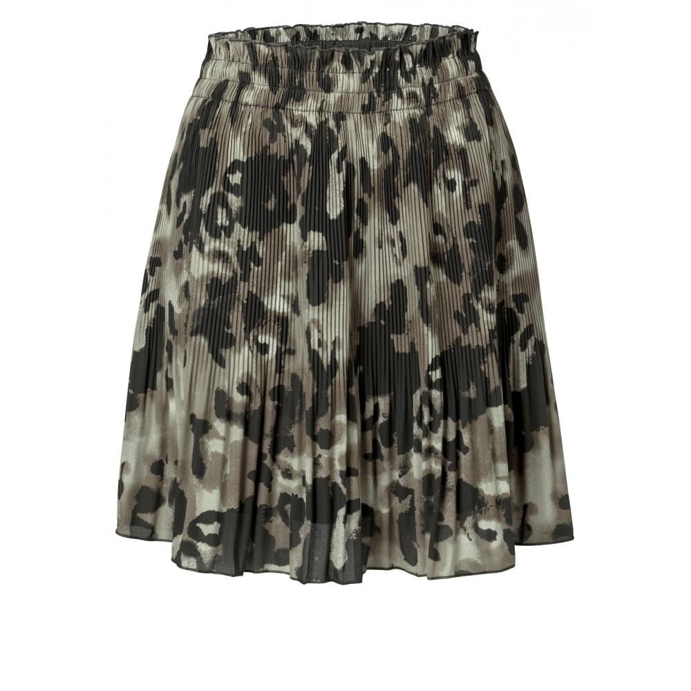 Geplooide dames rok met luipaard print YAYA - 140170-923-803121