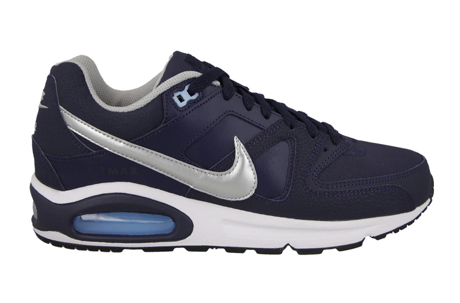 Blauw wit grijze heren sneaker Nike Air Max Command Leather - 749760-401