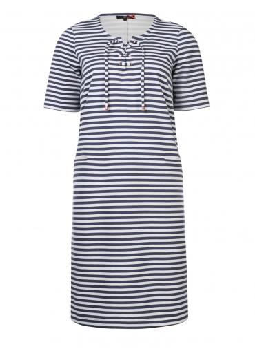 Blauw wit gestreepte dames jurk Dept - 33001095